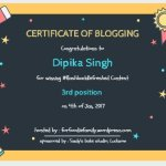 Certificate of Blogging