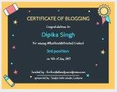 Certificate of Blogging