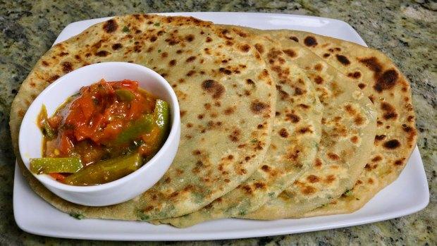 Indian stuffed paratha