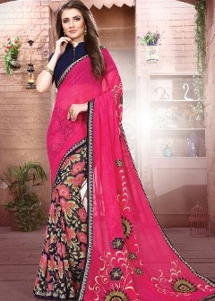 multicoloured georgette sarees
