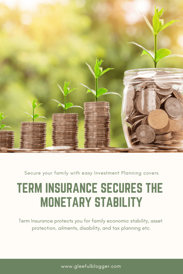 Term Insurance is a life insurance plan that provides financial coverage to the beneficiary of the insured person for a defined period of time. Provides Financial stability