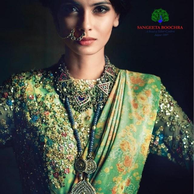 Diana Penty wearing Sangeeta Boochra