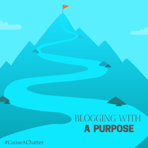 #CauseAChatter Blogging with a purpose theme reveal