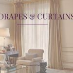 drames and curtains for living room