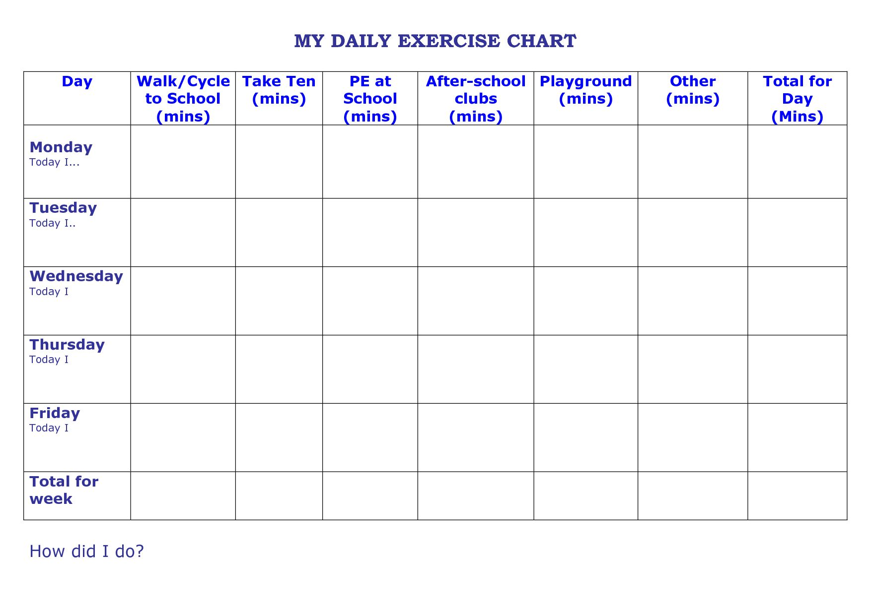 Carb Cycling Excel Spreadsheet