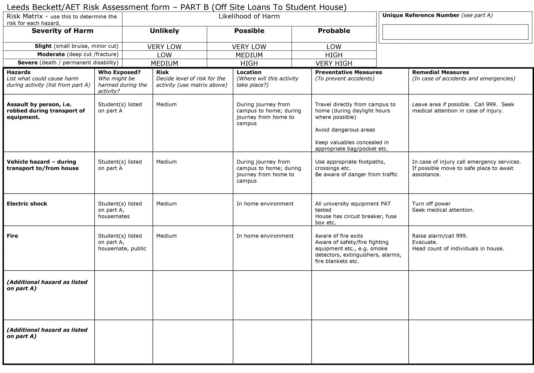 Job Hazardysis Template Excel
