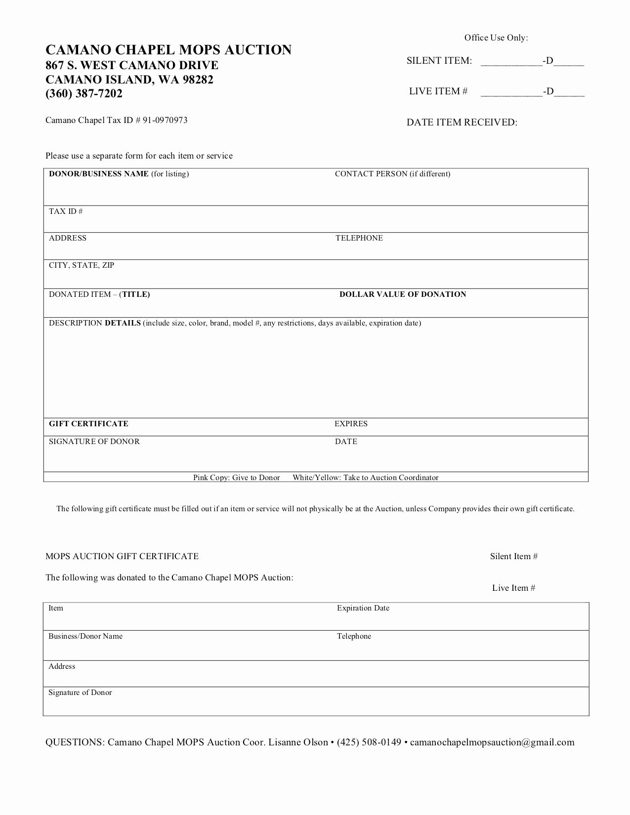 Salvation Army Donation Spreadsheet
