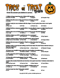 printable halloween trivia questions and answers
