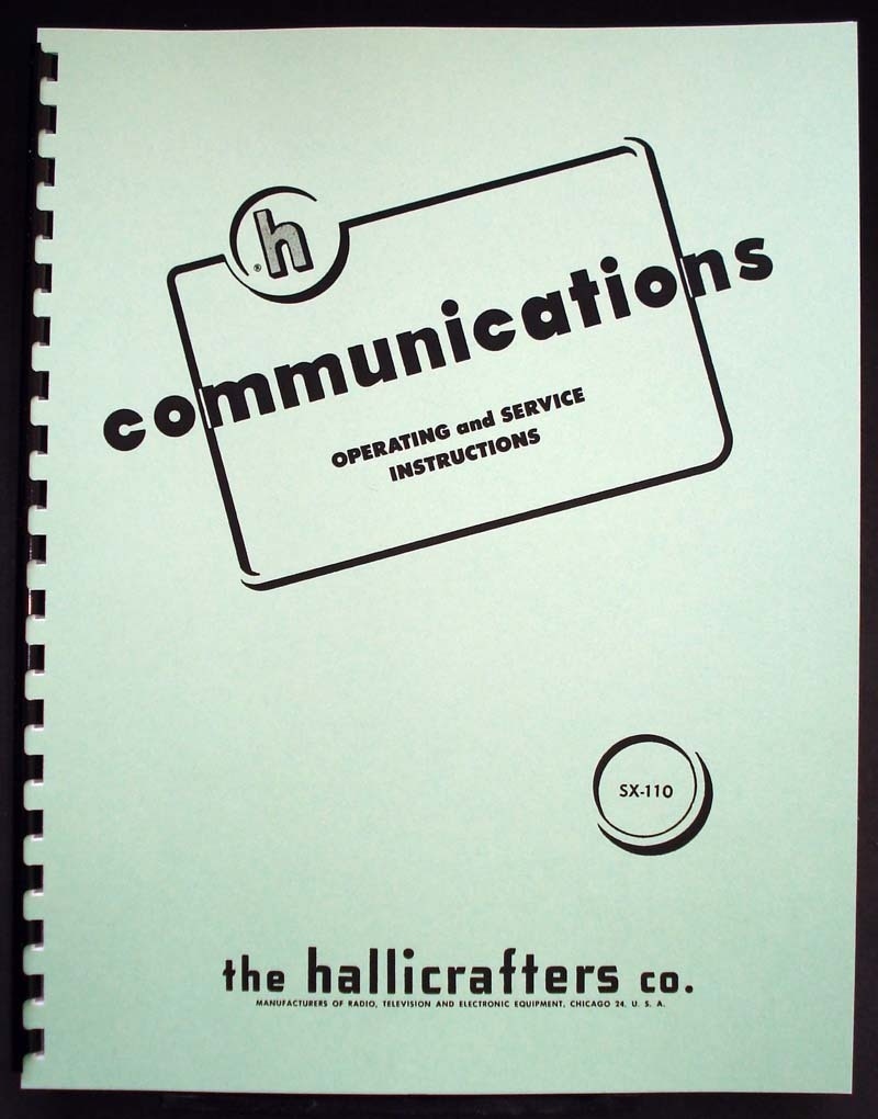 Hallicrafters Sx 110 Sx110 Communications Receiver Manual