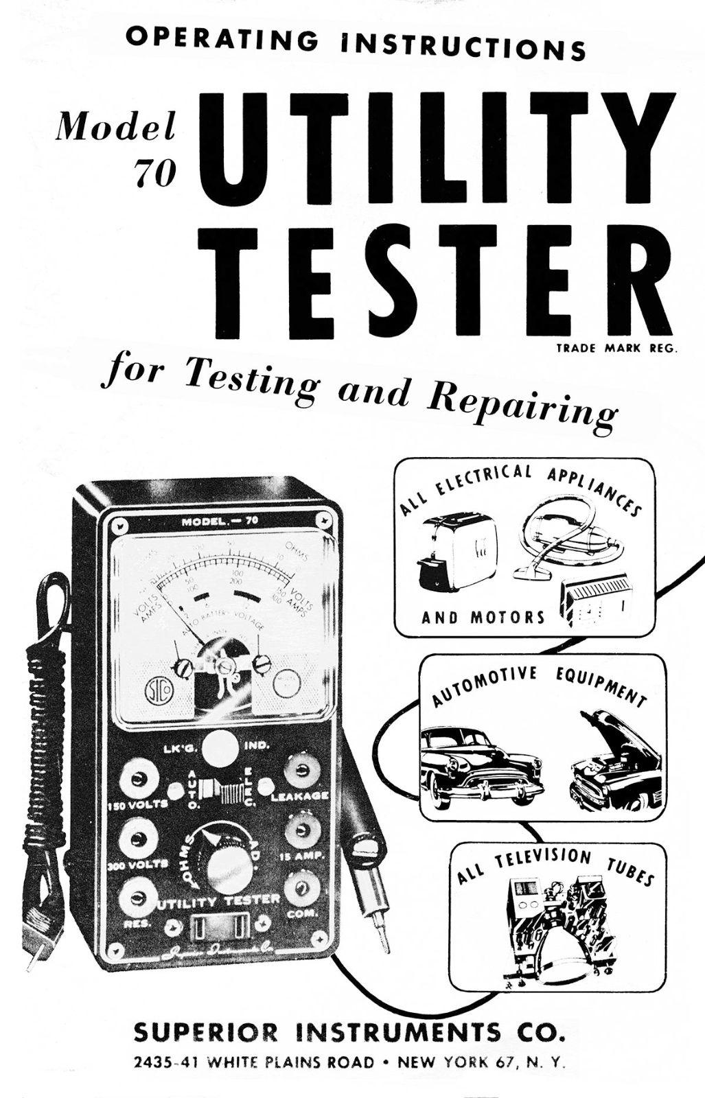 Superior Model 70 Utility Tester Manual