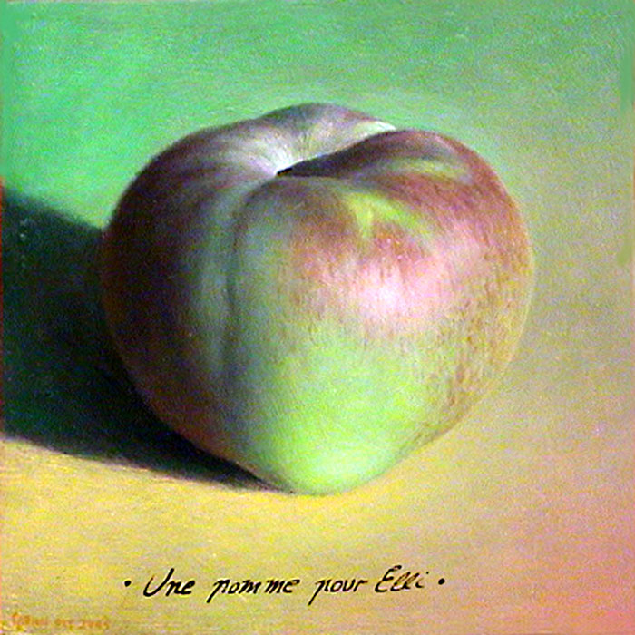 Ellie's Apple, 26 x 26 cm, Oil on Panel