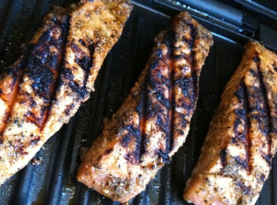 G's New Orleans Salmon - On the grill
