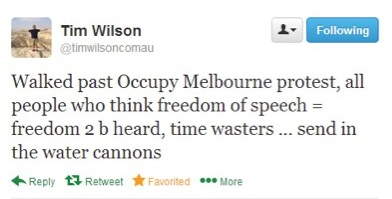 Tim Wilson's anti-free speech tweet