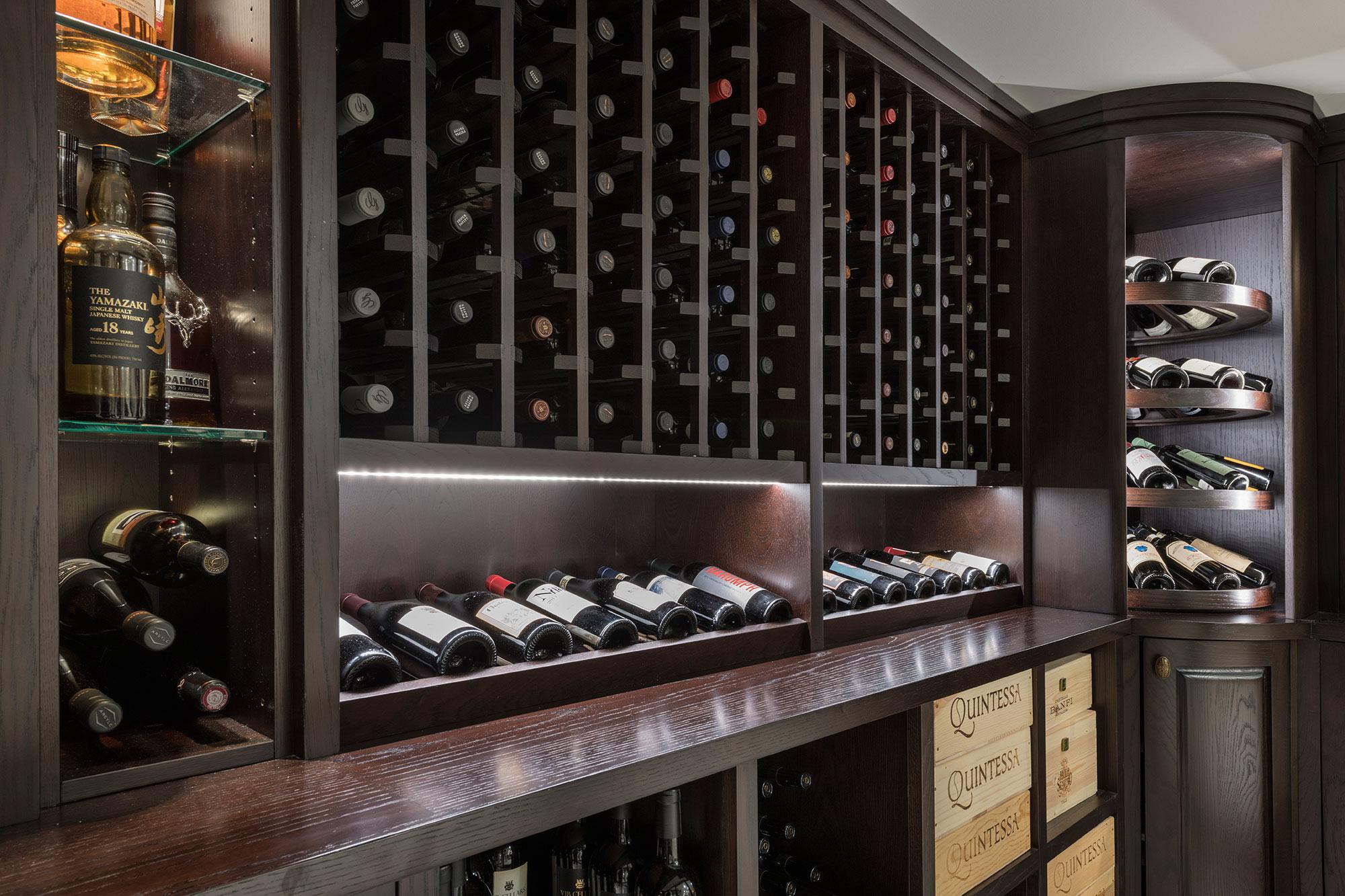 Walnut Wine Cellar Racking