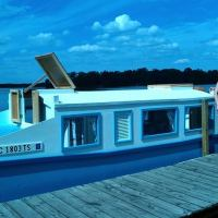 Memories of a Sunny Afternoon in a Home-made, Wooden Houseboat...