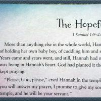 Hannah: The Hopeful Girl- Part 5 in a Fourteen-Week Bible Study for Women