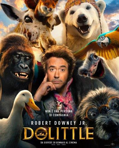 dolittle poster locandina cinema a gennaio