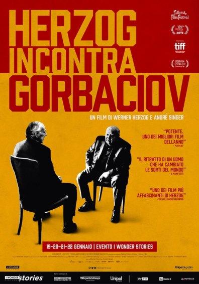 herzog incontra gorbaciov poster locandina cinema a gennaio