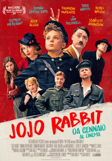 jojo rabbit poster locandina cinema a gennaio