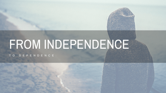 Independence to dependence