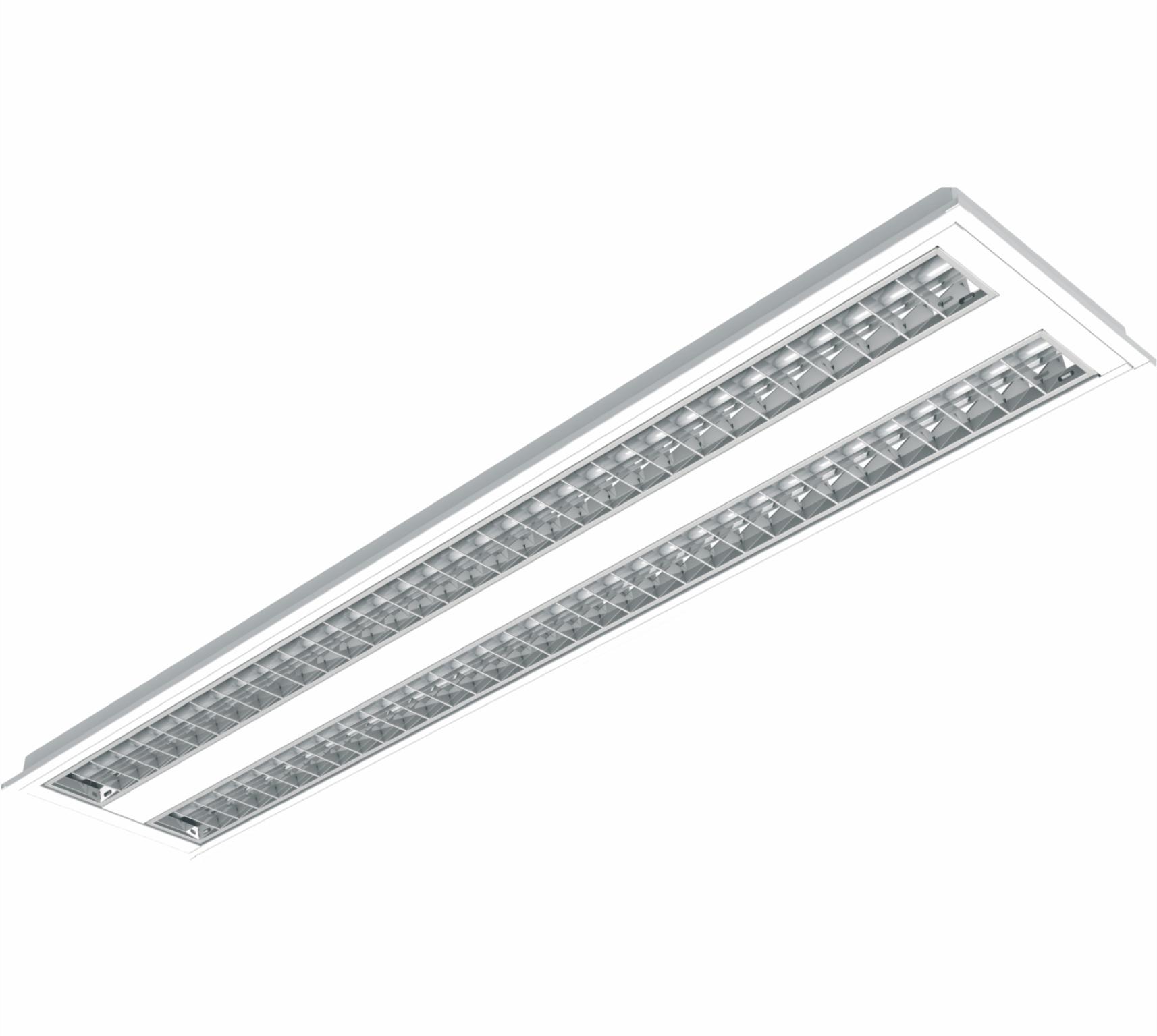 Luminaria De Alto Rendimento T5 2x28 54w De Embutir