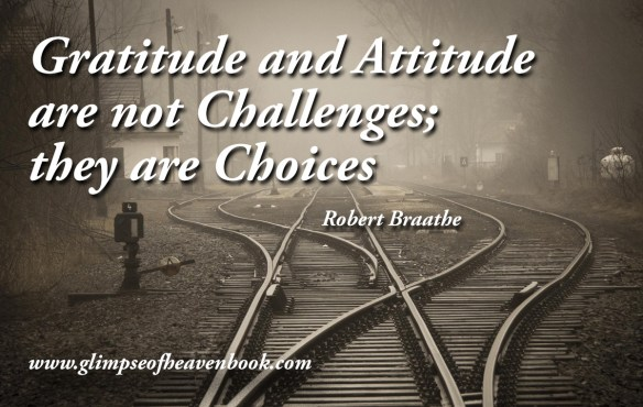 Gratitude and Attitude are not Challenges; they are Choices Robert Braathe