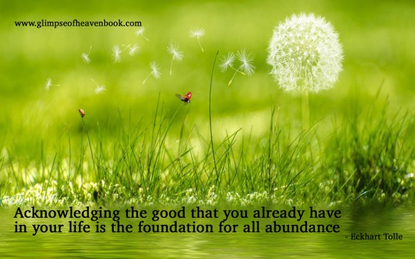Acknowledging the good that you already have in your life is the foundation for all abundance Eckhart Tolle
