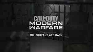 Modern Warfare Killstreaks