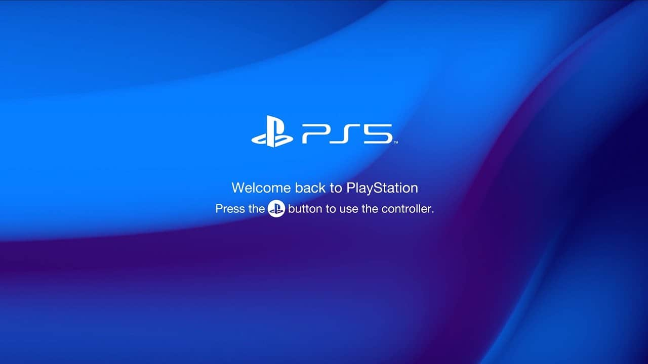 PS5 PlayStation 5 Sony Start-up Screen