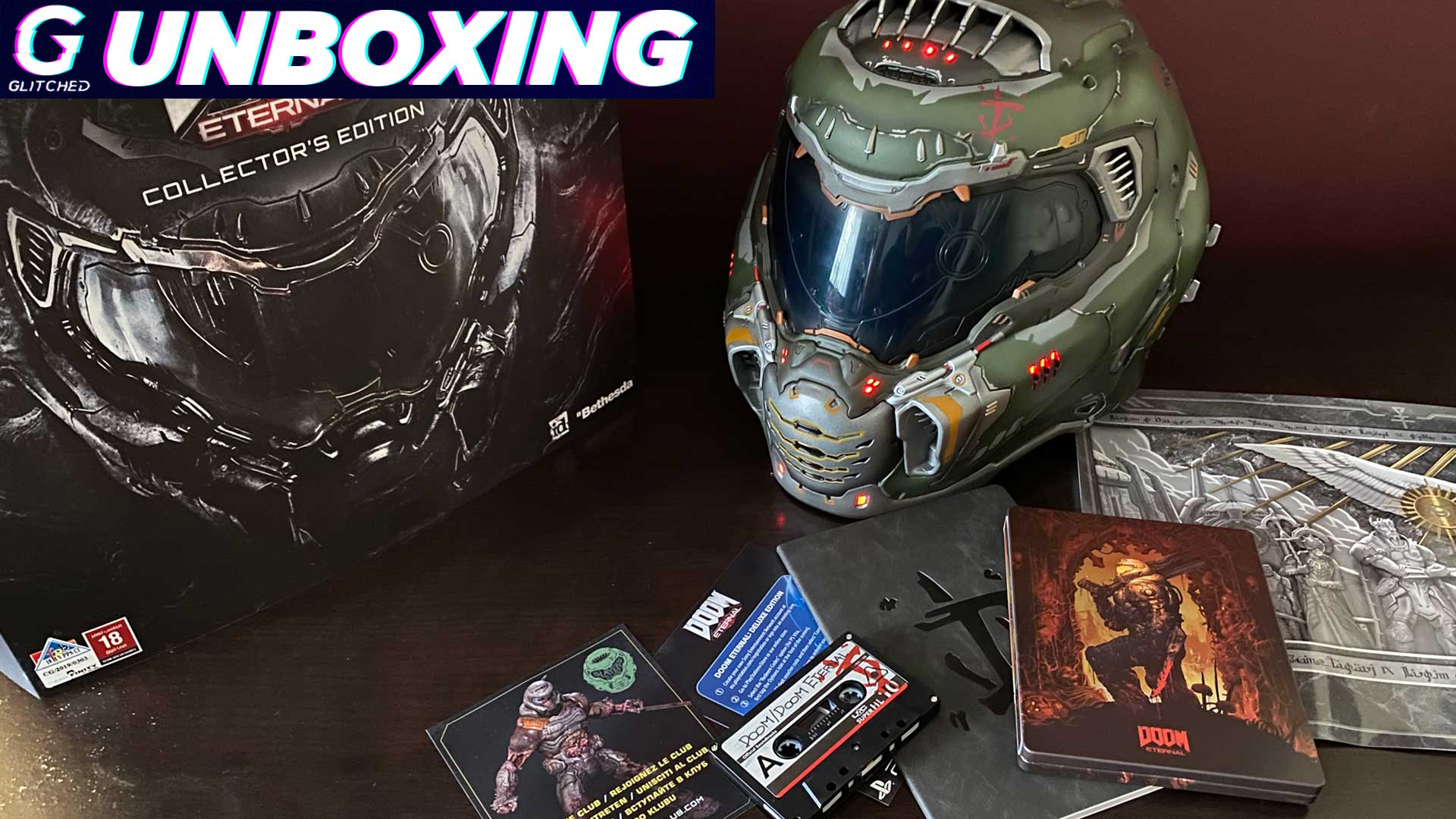 DOOM Eternal Collector's Edition Unboxing Helmet