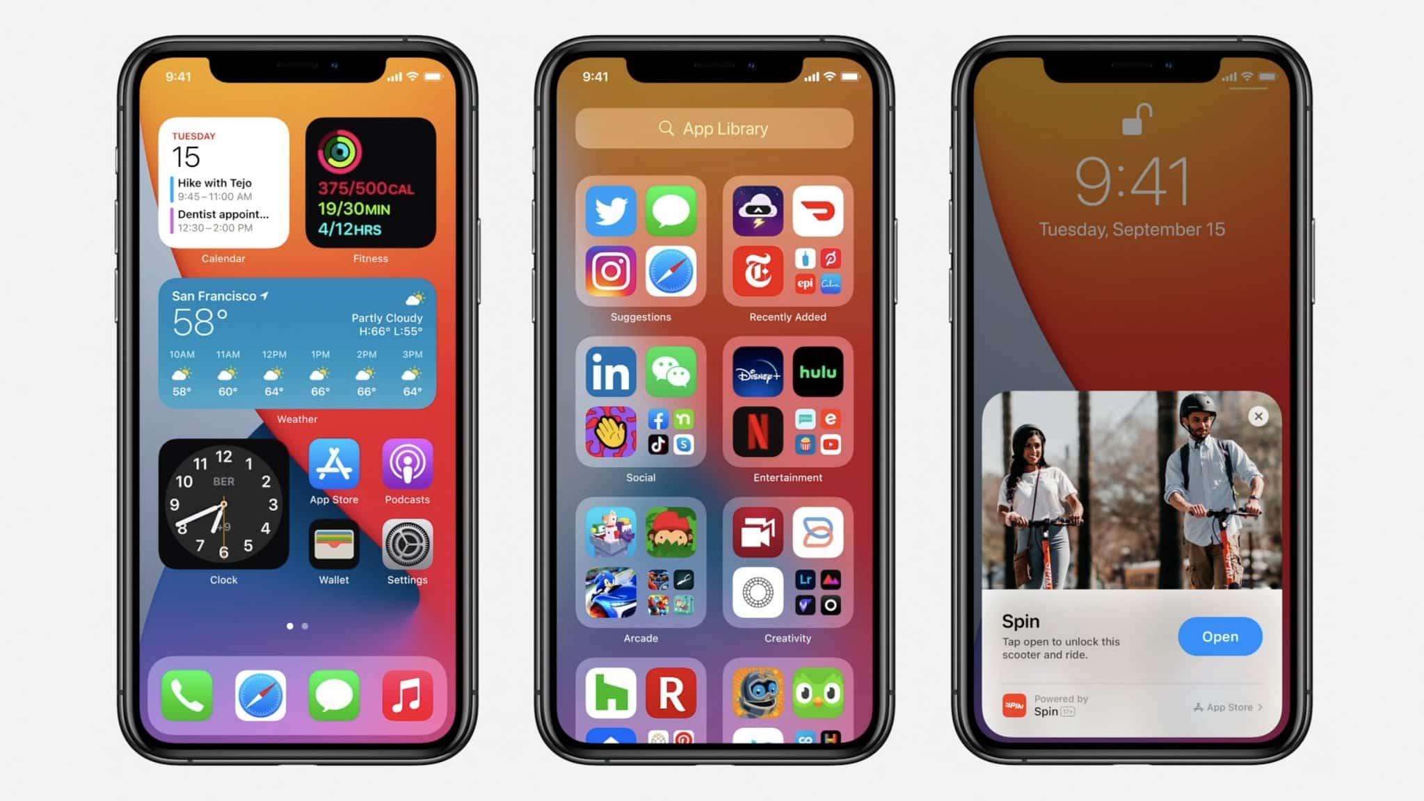 iOS 14, iPadOS 14, watchOS 7, and tvOS 14