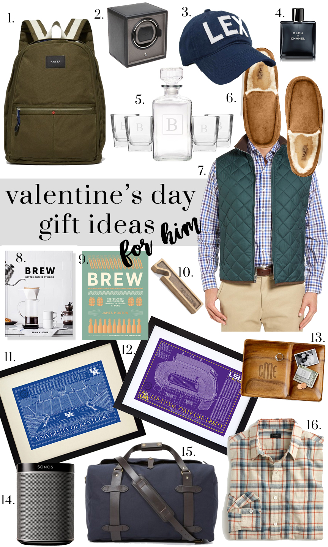 Valentine's Day Gift Ideas for Him:: Ft. Mark & Graham, Peter Millar, Uncommon Goods, UGG, Sonos, J. Crew