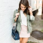 the pink leather skirt