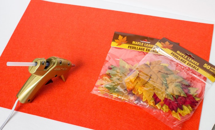 Fall Table Place Mats supplies