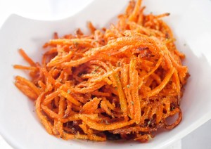 parmesan carrot shoestring fries