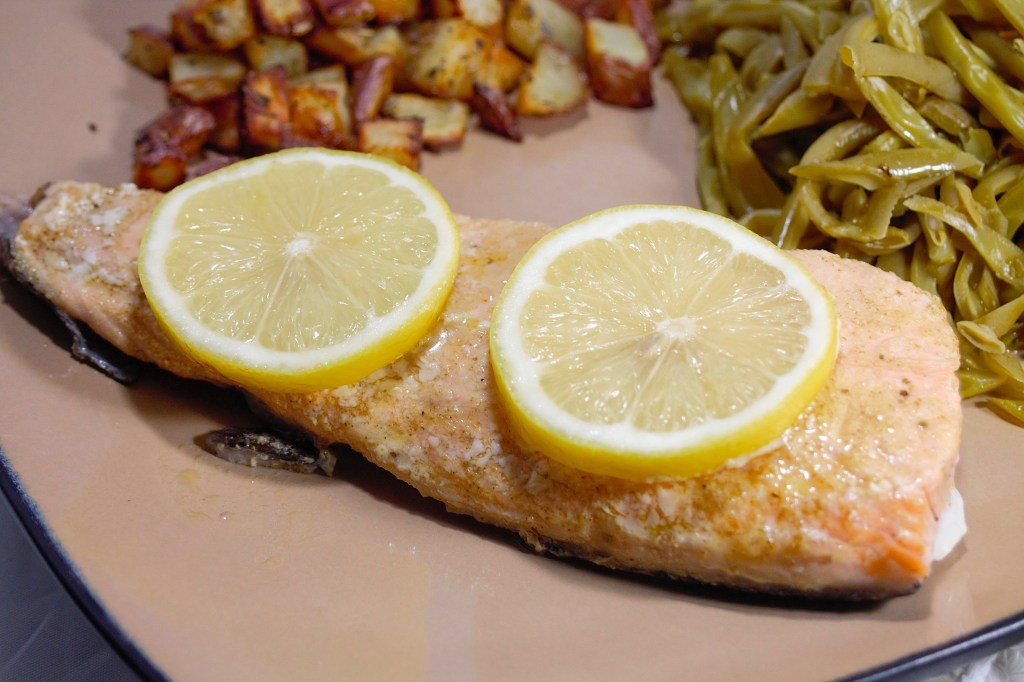 Simple Garlic and Herb Salmon