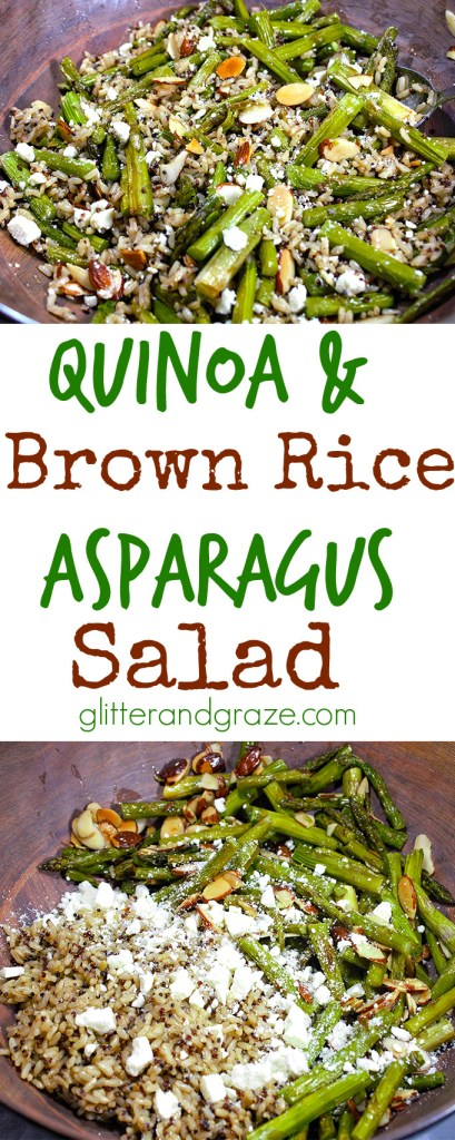 Quinoa and Brown Rice Asparagus Salad