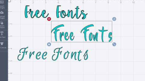 cricut explore air-free fonts