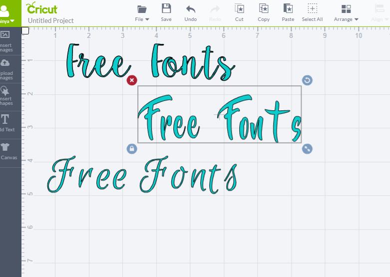 cricut explore air-free fonts