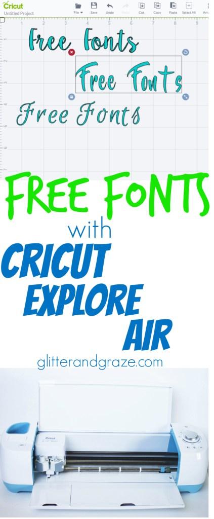 free fonts cricut explore air
