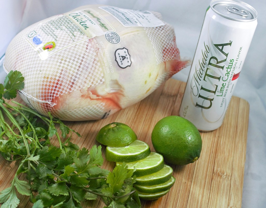 Cilantro Lime Beer Can Chicken