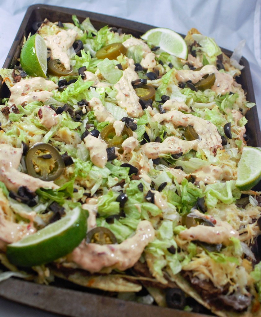 Black Bean and Chicken Nachos
