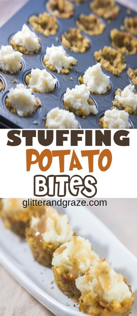 stuffing potato bites
