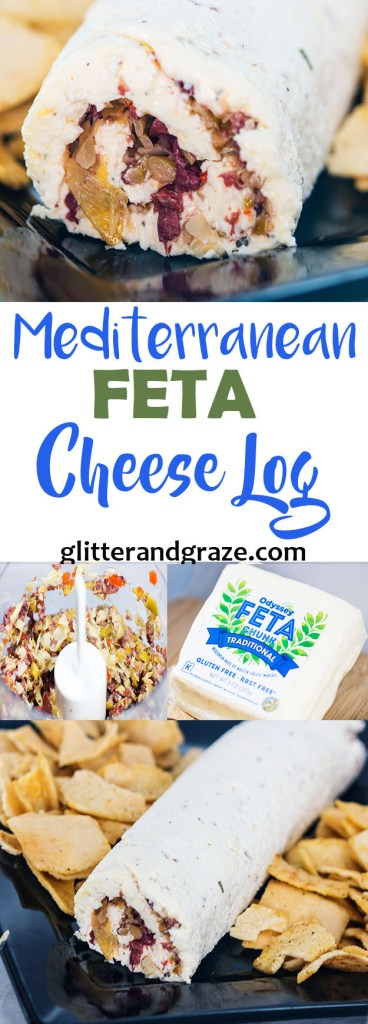 Mediterranean Feta Cheese Log