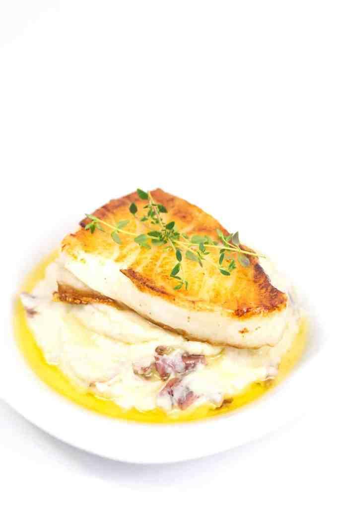 pan seared sea bass