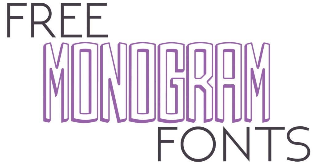 Free Monogram Fonts Glitter And Graze