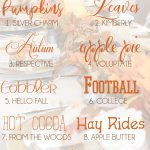 faded fall picture with a collection of free fall fonts to use in cricut design spaace