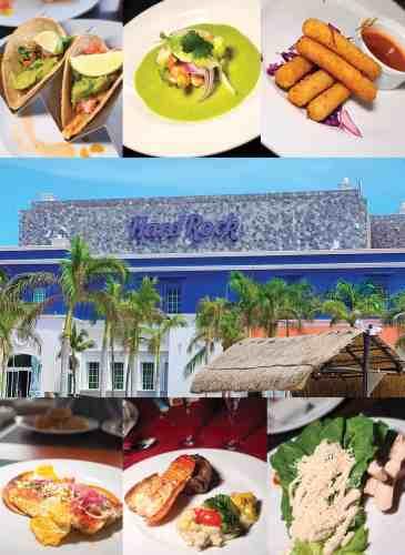 photo collage of the food at Hard Rock Rivera Maya 2020