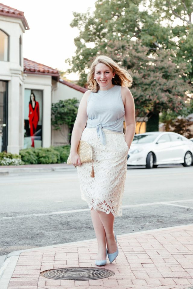 How to Introduce Yourself in a Blog, Eyelet Skirt