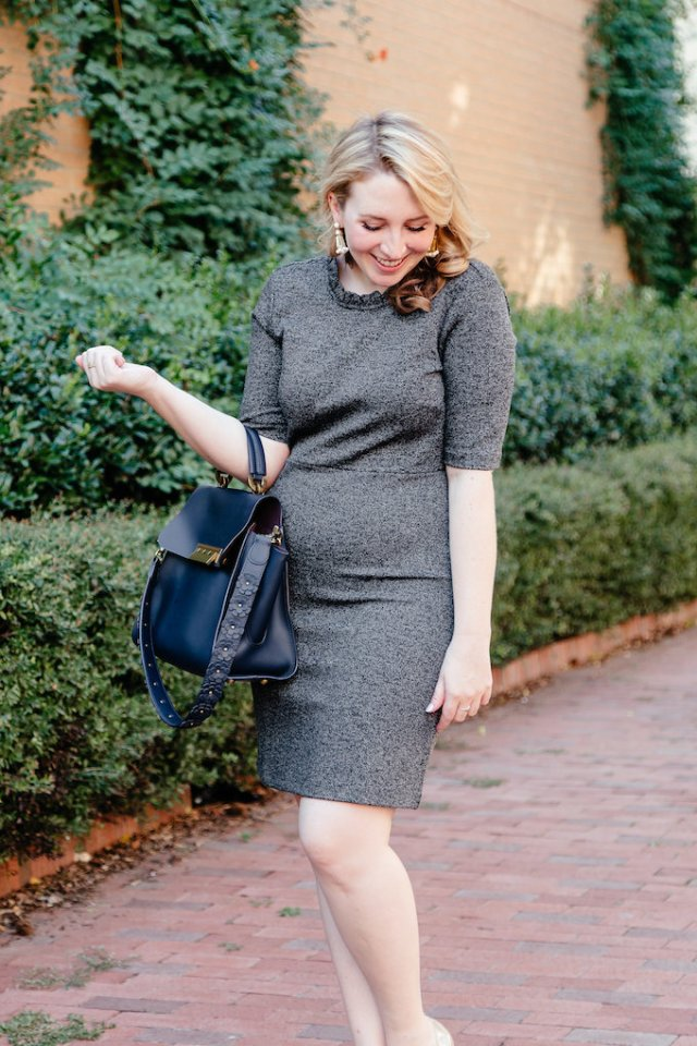 Gray Ann Taylor suiting dress